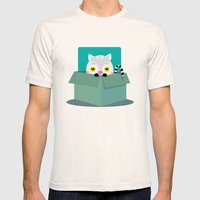 Little cat Mens Fitted Tee Natural SMALL
