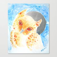 Scops Owl Canvas Print