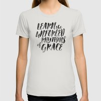 Rhythms Of Grace Womens Fitted Tee Silver SMALL