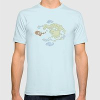 The Lay Of The Land Mens Fitted Tee Light Blue SMALL