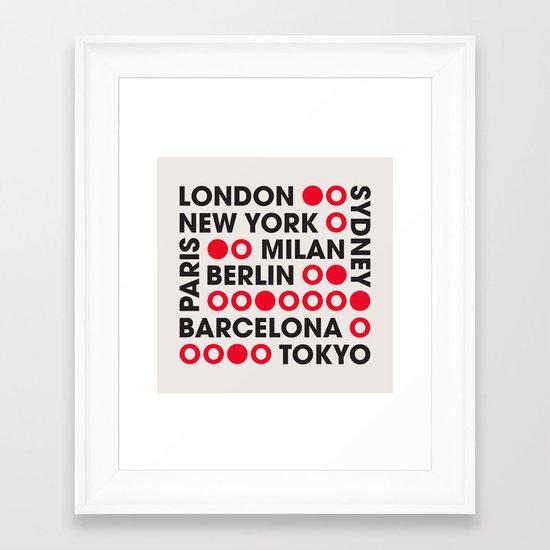 I Love This City Typography Framed Art Print