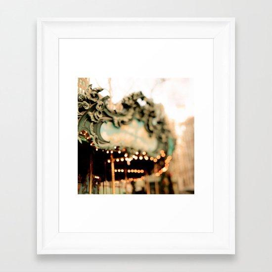 Dreamy Carousel  Framed Art Print