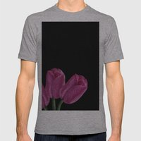 Pink Tulips Mens Fitted Tee Athletic Grey SMALL