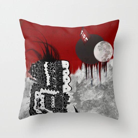 Man on fire Throw Pillow
