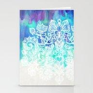 Indigo & Aqua Abstract -… Stationery Cards