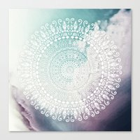 RAINBOW CHIC MANDALA Canvas Print