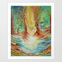 alice in wonderland Art Prints featuring Wonderland by Lily Nava Gallery Fine Art and Design