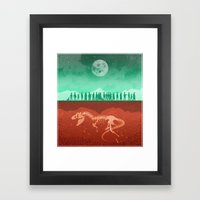 The Dead Of Night Framed Art Print