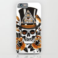 Smoking Skull And Roses  iPhone 6 Slim Case