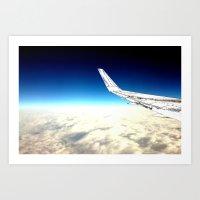 paper plane. Art Print