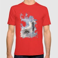 Sky  Mens Fitted Tee Red SMALL