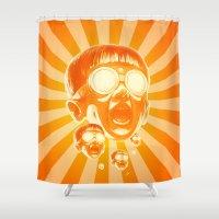 Big Fireee! Shower Curtain