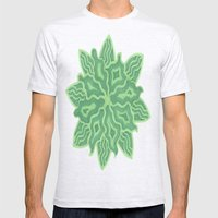 Emerald Flower Mens Fitted Tee Ash Grey SMALL