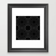 Slate Gray Colorburst Framed Art Print