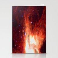 Burning Star Stationery Cards