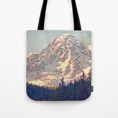 Mount Rainier Retro Tote Bag