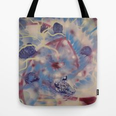 Spiral Stare Face Tote Bag