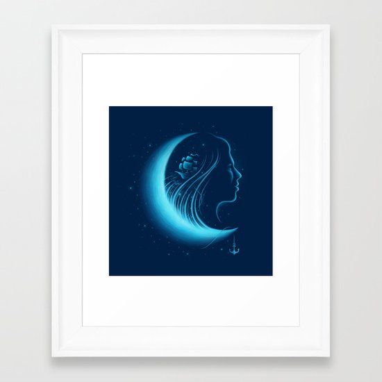Moonlight Grace Framed Art Print