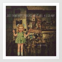 My responce to Happiness is a Choice Art Print