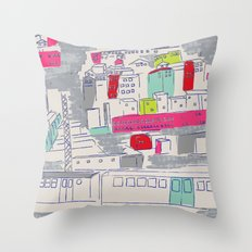 Bright lights City Throw Pillow