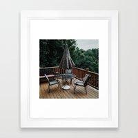 Cabin Deck Framed Art Print