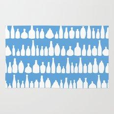 Bottles Blue Rug