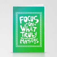 What truly matters Stationery Cards