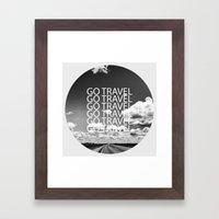 Go travel! - By Rasmus Verdier Framed Art Print