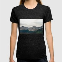 Mountain Green Womens Fitted Tee Tri-Black SMALL
