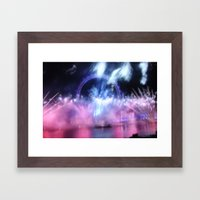 New Year's Eve at London Eye Framed Art Print
