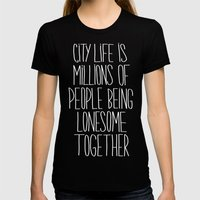 City Life Womens Fitted Tee Black SMALL