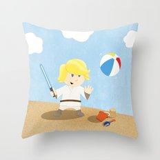 SW Kids - Luke at the Beach Throw Pillow