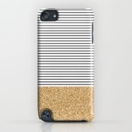Minimal Gold Glitter Str… iPod touch Slim Case
