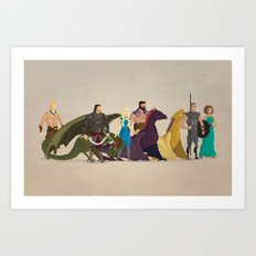 Mhysa's Gang Art Print