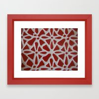 Red Stone Path Framed Art Print