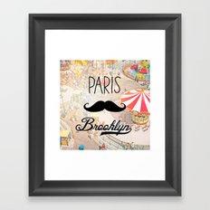 Paris Brooklyn ii Framed Art Print