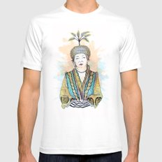 Wisdom White Mens Fitted Tee SMALL