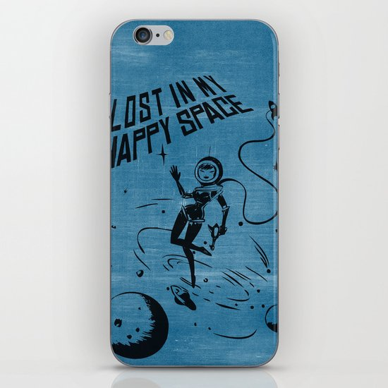 Lost In My Happy Space, blue iPhone & iPod Skin