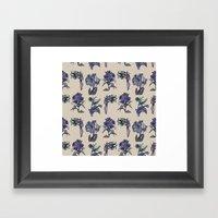 Botanical Florals | Vintage Blueberry Framed Art Print