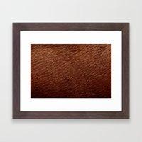 Leather Texture (Dark Brown) Framed Art Print