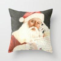 Letter to Santa Claus Throw Pillow