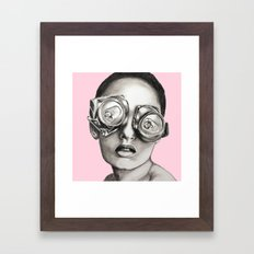 Sugarfree pale pink Framed Art Print