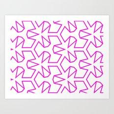 Van Zwaben Pink Neon Pattern Art Print