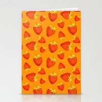 Strawberries All Over Stationery Cards