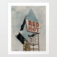 Red Hot - Meridian, MS Art Print