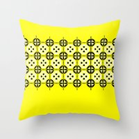 Yellow Fru Fru Throw Pillow