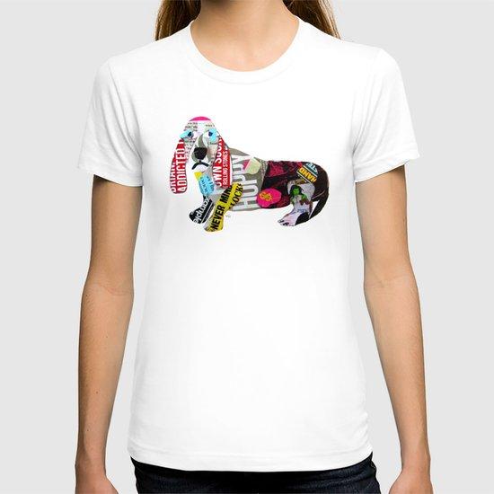 dachshund graffiti T-shirt