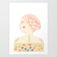 Portrait Of A Girl With … Art Print