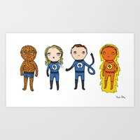 Super Cute Heroes: Fanta… Art Print
