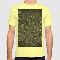 WOLVES OF PERIGORD Mens Fitted Tee Lemon SMALL